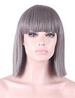 The New Cos Wig Grey Neat Bang BOBO Short 12 Inch