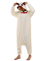 Kigurumi Caractéristiques / Mignon et câlin Polaire Collant/Combinaison Kigurumi Pyjamas Pyjamas animale Beige Motif AnimalHalloween /