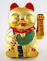 Ceramic Electric Gold Lucky Cat Ornaments Opening Gifts