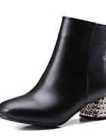 Women's Boots Spring / Fall / Winter Heels / Fashion Boots / Square Toe  / Dress / Casual Chunky Heel Zipper
