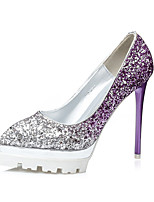Women's Heels Fall Heels / Pointed Toe  Glitter Dress Stiletto Heel Sparkling Glitter Blue / Purple / Red / Gold Walking