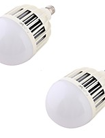 YouOKLight  2PCS  E27 36W 2200lm 3000K 72-5730 SMD LED Warm White Light Bulb - White (220~240V)