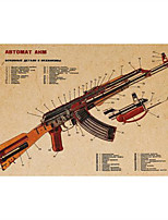 AK-47 Wall Art Poster Pictures Home Decor for Bathroom Bar Cafe