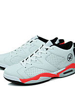 Women's Sneakers Spring / Fall Comfort Microfibre Athletic Flat Heel Lace-up Black / White / Black and White Basketball