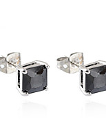 Earring Square,Jewelry 1 pair Fashionable Copper Gold / Black / Silver Daily / Casual