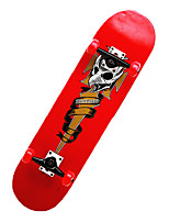 Classic Skateboard(70*51mm) Silvery/Red