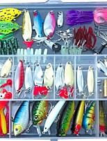 131pcs pcJerkbaits / Esche rigide / Esche morbide / Jig / Cucchiai / Pesciolini / Manovelle / Matita / Popper / Vibrazione / Confezioni