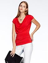 Heart Soul® Women's Round Neck Short Sleeve T Shirt Red-10A1BS8582