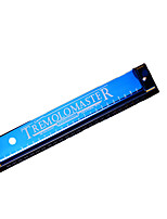 4 hole tremolo Blue gold beginners children adults play the harmonica
