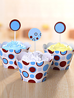 Birthday Party Tableware-24Piece/Set Cake Accessories Tag Card Paper Classic Theme Other Non-personalised Multi Color
