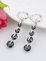 Earring Others Drop Earrings Jewelry Women Fashion Daily / Casual Copper 1 pair Black / White / Red