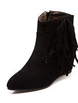Women's Shoes   Wedges / Fashion Boots Boots Outdoor / Office & Career / Casual Wedge Heel OthersBlack /  &c-17