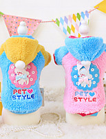 honden Hoodies Blauw / Roze Hondenkleding Winter / Lente/Herfst Cartoon Modieus Other