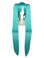 Perruques de Cosplay Vocaloid Mikuo Bleu Extra Long / Droite Anime Perruques de Cosplay 120 CM Fibre résistante à la chaleurMasculin /