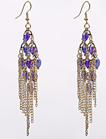 Earring Oval Jewelry Women Tassels Wedding / Party / Daily / Casual Alloy 1 pair Gold