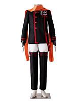 Inspiriert von D.Gray-man Lavi Bookman Jr. Anime Cosplay Kostüme Cosplay Kostüme einfarbig Schwarz / Rot Lange ÄrmelMantel / Hosen /