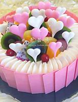 Partito da tavola Accessori decorativi per torte S. Valentino Rustico Tema A cuore Non personalizzato 100% silicone Multicolore 1Pezzo/Set