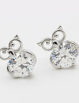 Earring Animal Shape Jewelry Women Fashion Wedding / Party / Daily / Casual / Sports Alloy / Rhinestone 1 pair Silver