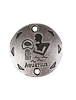 20pcs New Alloy Parts Twelve Constellation Aquarius Round Accessories