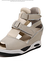 Women's Sandals Summer Sandals / Open Toe PU Casual Wedge Heel Others Black / Almond Others