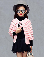 Maglione e cardigan / Completo e giacca Girl Casual Tinta unita Rayon Primavera / Autunno Rosa / Rosso