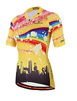 Miloto® Cycling Jersey Women's Short Sleeve BikeBreathable / Quick Dry / Moisture Permeability / Front Zipper / YKK Zipper / Reflective