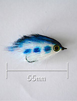 1 pcs Hard Bait Blue g/1/6 oz. Ounce,55 mm/2
