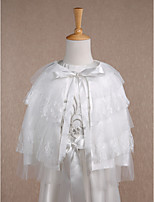 Kids' Wraps Capes Sleeveless Lace / Tulle Ivory Wedding / Party/Evening / Casual Scoop 34cm Lace / Ruffles Lace-up