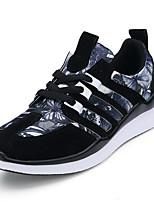 Unisex-Tacón Plano-Confort-Zapatillas de deporte-Casual-Sintético-Negro / Azul / Rojo