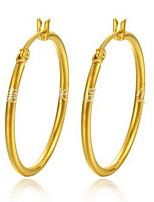 Earring RoundJewelry 1 pair Fashionable Stainless Steel Gold Daily / Casual