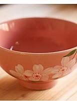 sous la couleur de l'émail de riz bols quatre bols saisons de fleurs