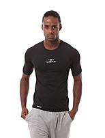 Carrera Camiseta / Sudadera Hombres Mangas cortas Transpirable / Secado rápido / Reductor del Sudor / Cómodo Nylón / Chinlon Running