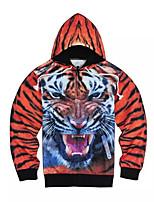 3D  Hoodie Long Sleeve Animal Tiger Printing Clothing