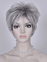 Fashion Grey Short Wig European and American Curly Wigs Women Synthetic Wigs
