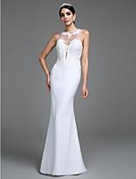 Lanting Bride® Trompeta / Sirena Vestido de Boda Hasta el Suelo Joya Tul con Apliques