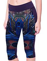 Women's Print Gray Skinny Pants,Plus Size / Active