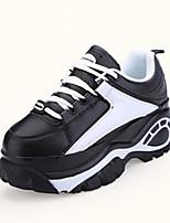 Черный / Серый-Женский-На каждый день-Полиуретан-На плоской подошве-Удобная обувь-Кеды