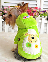 Dog Hoodie Red / Green / Blue / Yellow / Purple Winter / Spring/Fall Solid / Animal Keep Warm / Casual/Daily Dog Clothes