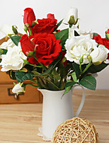 1PC Household Artificial Flowers Sitting Room Adornment  Flowers  Polyester  Rosas Artificial Flowers