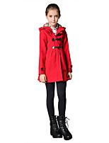 Mädchen Bluse / Daunen & Baumwoll gefüttert / Anzug & Blazer / Jacke & Mantel-Lässig/Alltäglich einfarbig Wolle / Polyester / Elasthan