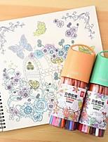 Pintura Lápis de cor,Madeira Vermelho / Azul / Amarelo / Púrpura / Laranja / Verde