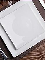 sans plomb os porcelaine plaque carrée blanc pur