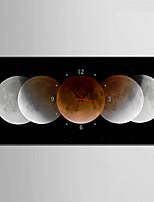 Moderne/Contemporain Autres Horloge murale,Rectangulaire Toile 30 x 60cm(12inchx24inch)x1pcs/ 40 x 80cm(16inchx32inch)x1pcs Intérieur