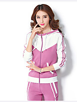Running Clothing Sets Women's Long  Sleeve Breathable Polyester Fitness Leisure Sports Badminton Cycling Running Sports