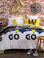 Balloon 800TC bedding sets Queen King size Bedlinen printing sheets pillowcases Duvet cover sanding Cotton Fabric