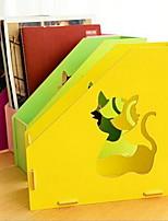 Korea Creative DIY Wooden Document Holder File Box Office Books Storage Shelf