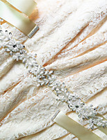 Satin Wedding / Party/ Evening / Dailywear Sash - Sequins / Beading / Appliques / Rhinestone Women's Sashes