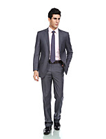 Tuxedos Tailored Fit Notch Single Breasted Two-buttonsRayon(T/R) / Wool & Polyester Blended Solid 2 Pieces Gray