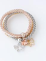 Bracelet Charm Bracelet Alloy Animal Shape Fashion Jewelry Gift Gold,1set