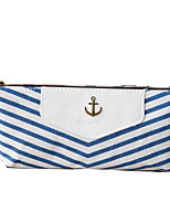 Korea Stationery Bags Student Triangular Cloth Navy Style Stripe Pencil Case